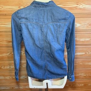 Levi's Shirts & Tops - Levis Western Soft Denim Button Down SZ13-15 yo XL